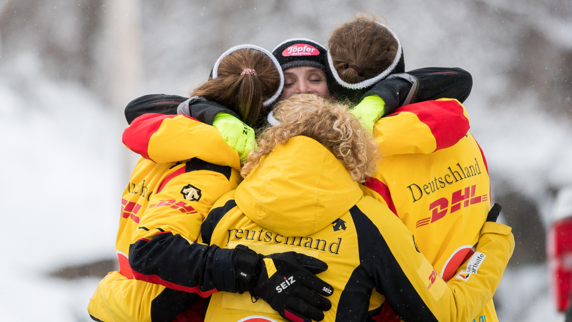 Ein starkes Team: die Bobfahrerinnen des BSD. (Foto: Viesturs Lacis)