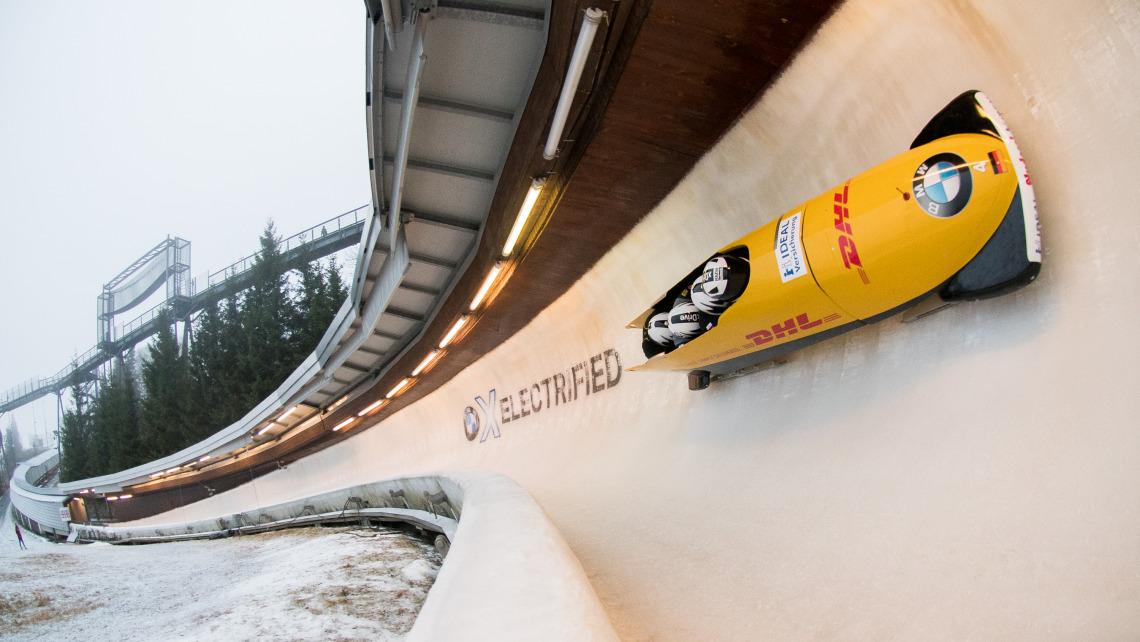 Elektrisierend: die Performance der deutschen Bobs auf heimischem Eis in Winterberg. (Foto: Viesturs Lacis)