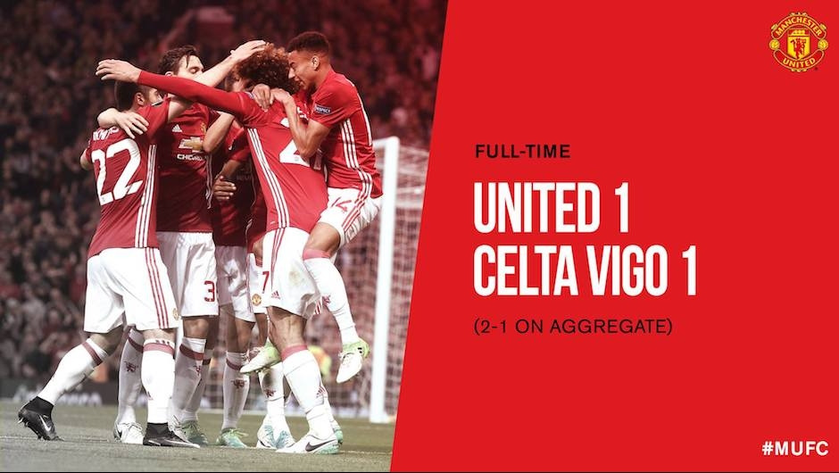 """Manchester United survive """"crazy game"""" to reach UEFA Europa League final"""