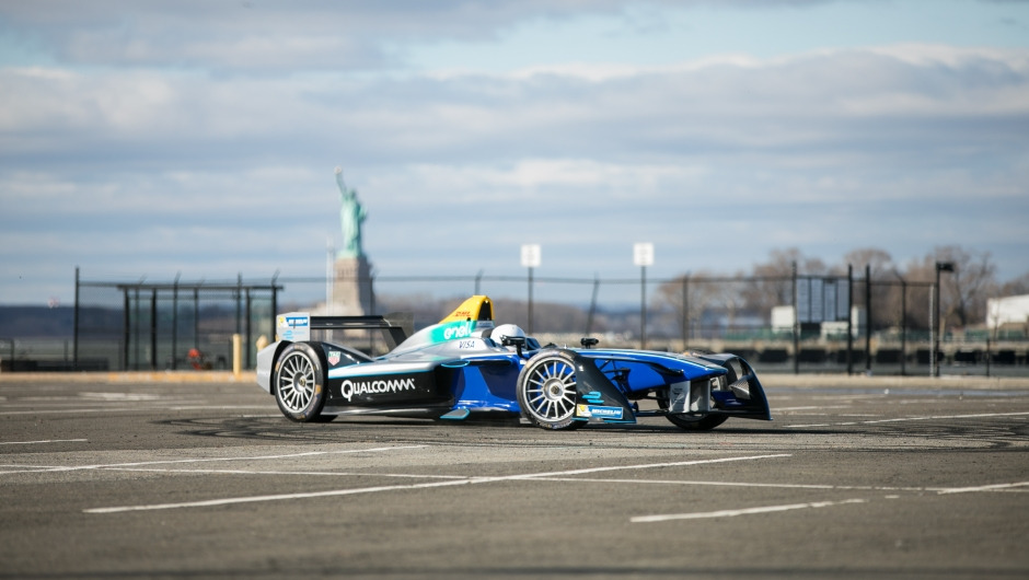 DHL delivers Formula E for first ever zero-emissions motorsports in New York City