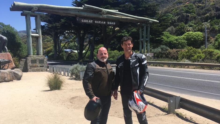 A dream come true: World's Best Road winner John Winter rides the Great Ocean Road