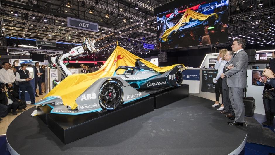 Covers come off the next generation Formula E car