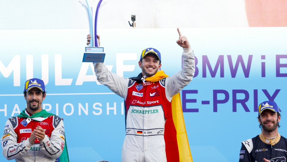 From StreetScooter to podium: Daniel Abt wins the Berlin ePrix