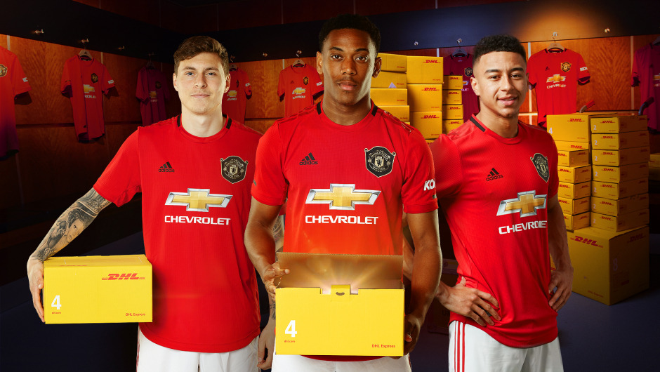 WIN MANCHESTER UNITED HOME SHIRT, DELIVERED BY DHL