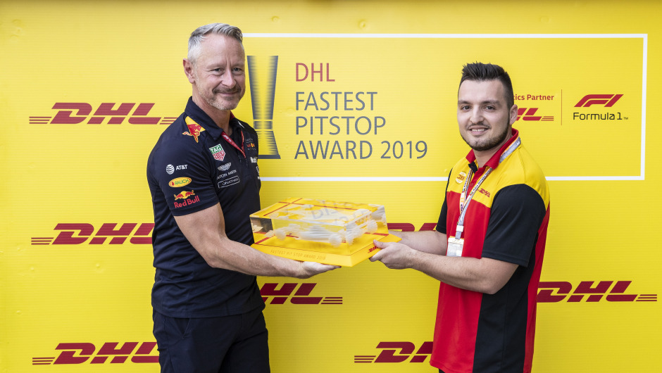 Red Bull Racing wins the DHL Fastest Pit Stop Award 2019