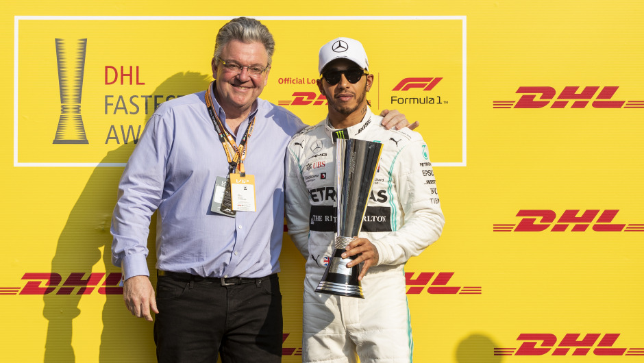 Lewis Hamilton wins the DHL Fastest Lap Award 2019