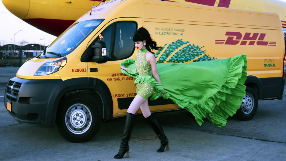 "DHL hosts ""Sustainable Catwalk"" at the JFK International Airport in New York"