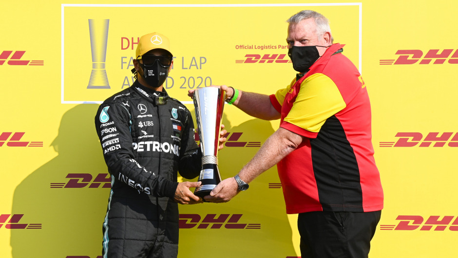 Lewis Hamiton wins the DHL Fastest Lap Award 2020