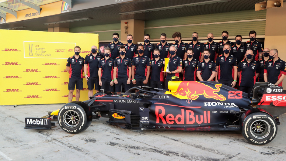 Red Bull Racing wins the DHL Fastest Pit Stop Award 2020