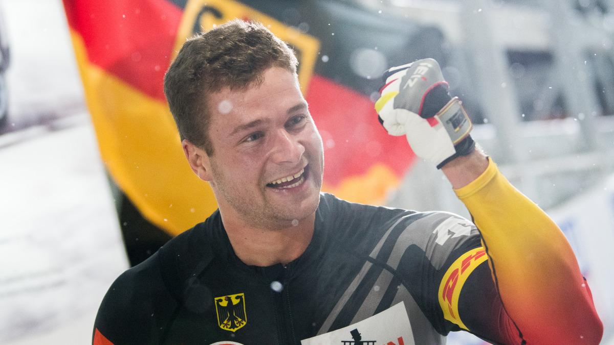 Grund zur Freude: Bobpilot Johannes Lochner gewinnt den ersten Lauf in Lake Placid. (Foto: Viesturs Lacis)