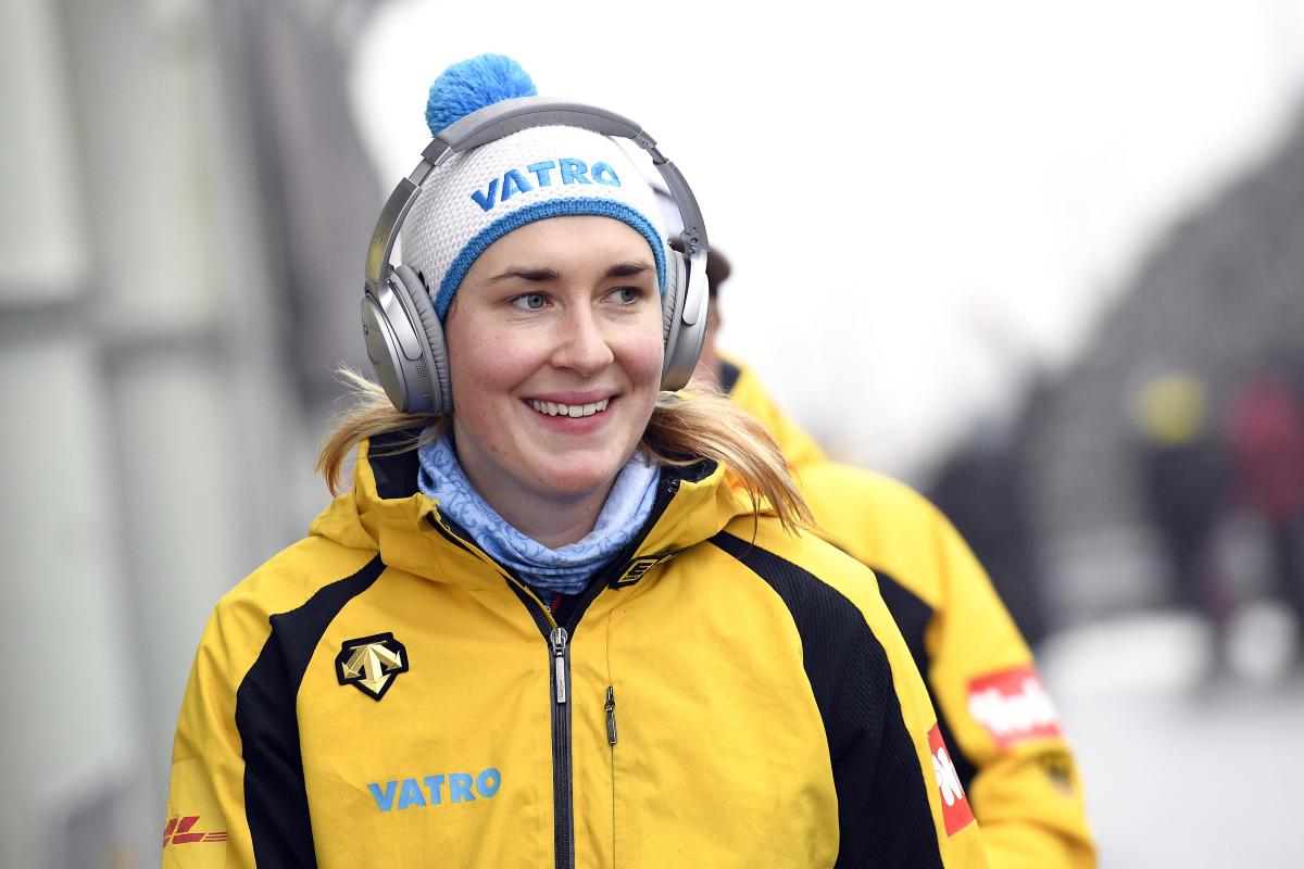 Fokussiert und optimistisch vor dem Rennen: Skeletoni Jacqueline Lölling. Leider reichte es für die amtierende Vizeweltmeisterin auf ihrer Heimbahn in Winterberg schließlich nur für Platz 4. (Foto: Dietmar Reker)