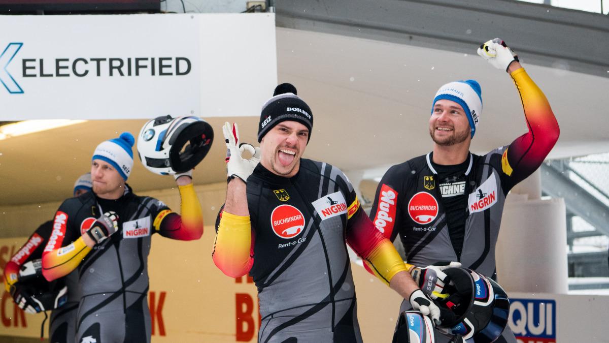 Ein starker Platz zwei für das 4er-Bobteam von Johannes Lochner (re.) in Innsbruck-Igls. (Foto: Viesturs Lacis)