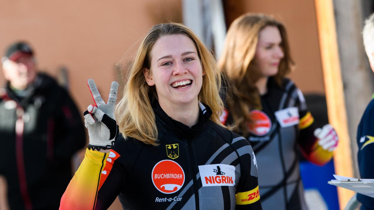 Anschieberin Ann-Kristin Strack (im Bild) fuhr mit Bobpilotin Laura Nolte im Schlitten auf Platz sechs. (Foto: Viesturs Lacis)