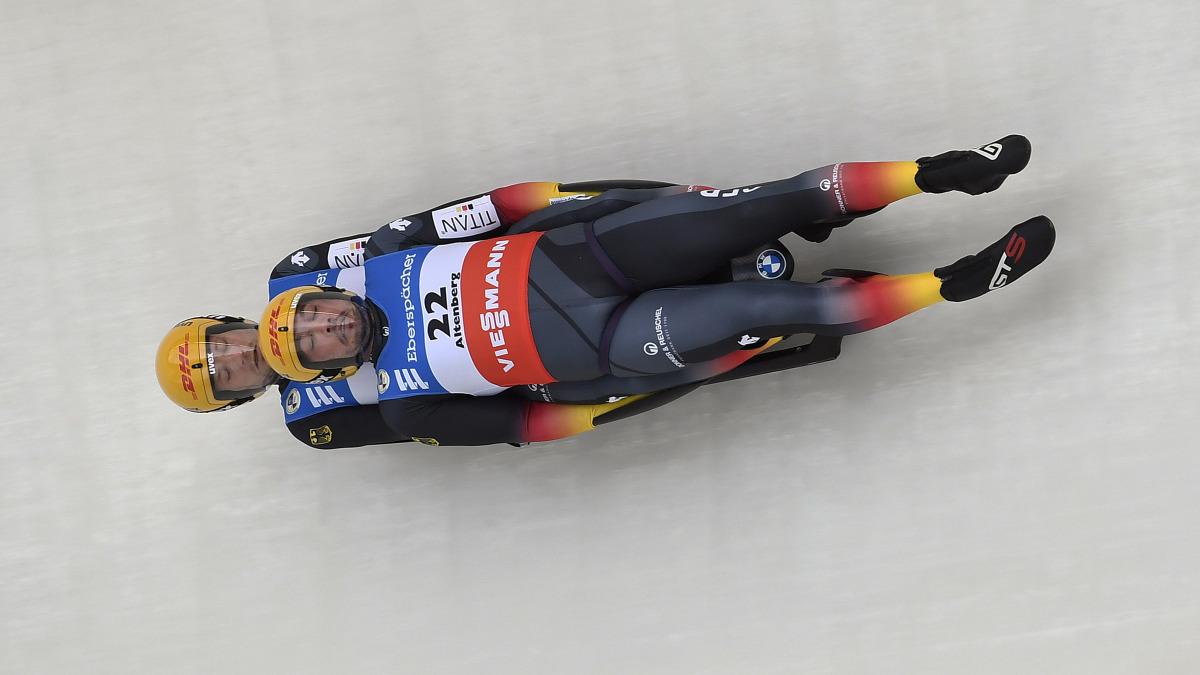 Das Erfolgsduo Tobias Wendl und Tobias Arlt erzielt Platz 3 beim Weltcup in Altenberg. (Foto: Dietmar Reker)