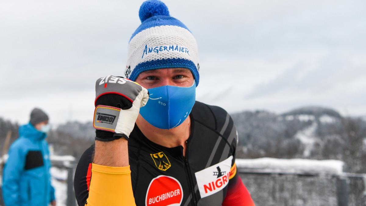 """Johannes (""""Hansi"""") Lochner hatte in Winterberg Grund zur Freude: Er holte sich im Zweierbob EM-Silber und zugleich Platz zwei im Weltcup. (Foto: Viesturs Lacis)"""