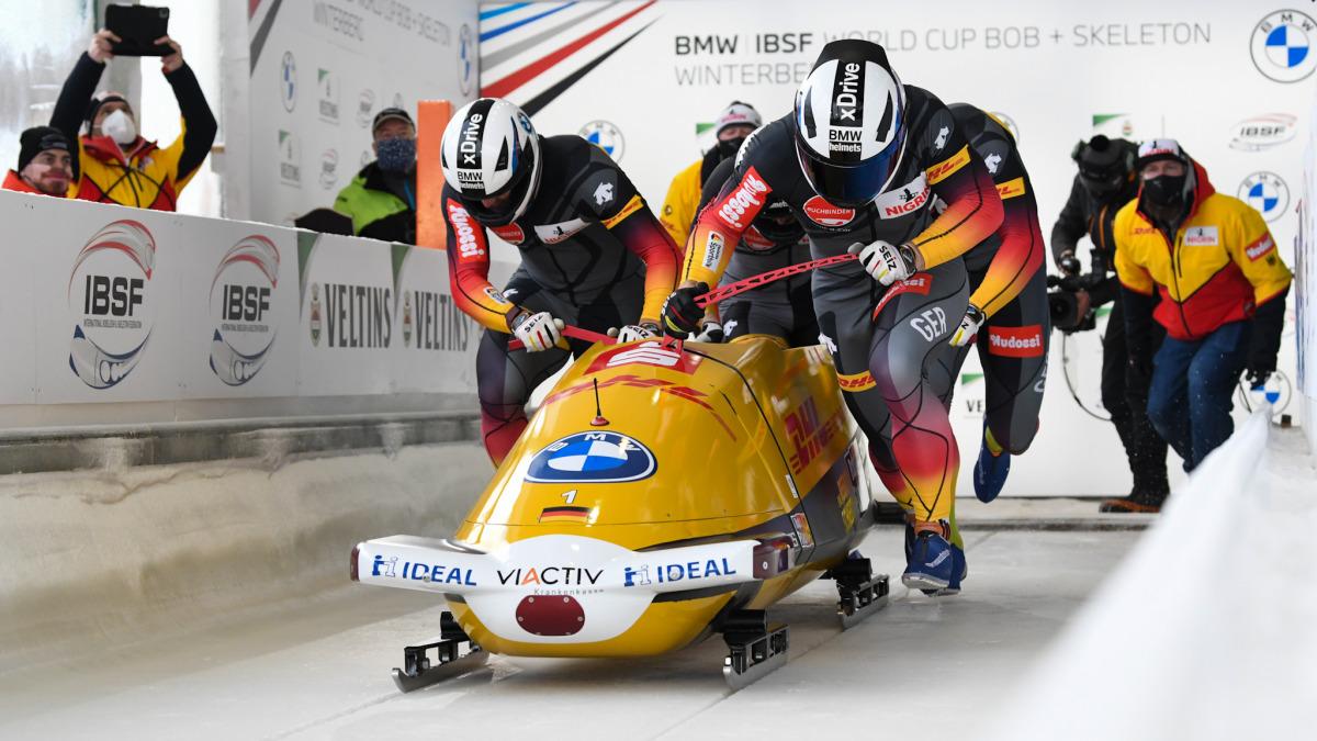 Legte in Winterberg einen perfekten Start hin: Francesco Friedrich fuhr mit seiner Crew zu seinem ersten EM-Titel im Viererbob. (Foto: Viesturs Lacis)
