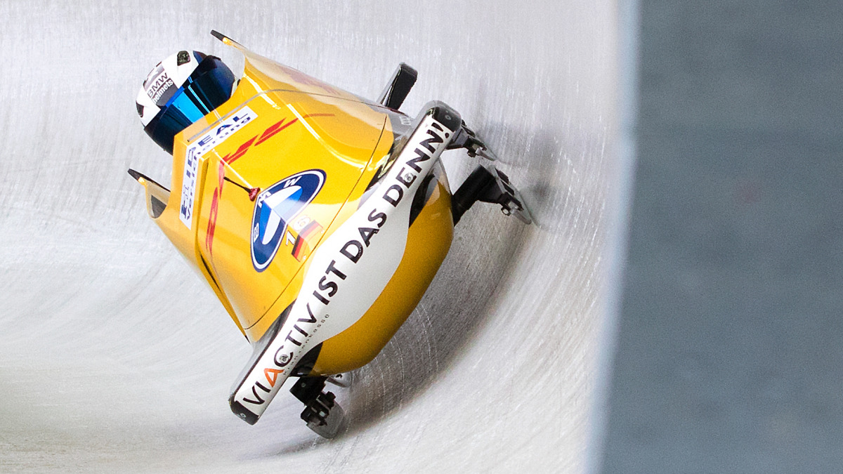 Blitzsauber lief der zweite Lauf für Kim Kalicki und Ann-Christin Strack durch den Eiskanal. (Foto: Bittner)