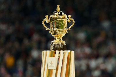 The iconic Rugby World Cup trophy has now been won three times by both South Africa and New Zealand.