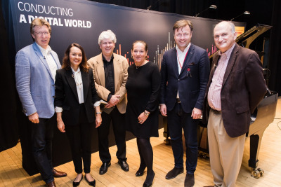(l-r) Andreas Schulz (Gewandhaus Leipzig), Birgit Gehring (IDAGIO), Nicholas Kitchen (NEC), Monika Schaller (Deutshe Post DHL Group), Malte Boecker (Beethoven-Haus Bonn), Mark Volpe (Boston Symphony Orchestra).
