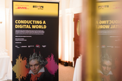 On display in the foyer: Conducting a Digital World banner