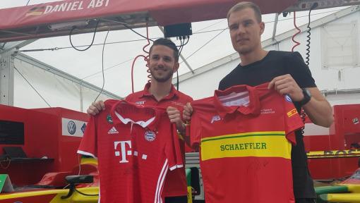 Daniel Abt and Holger Badstuber face the #DHLChallenge