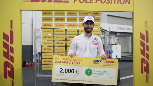 José María López wins DHL Pole Position Award for the second time