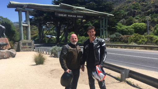 A dream come true: World's Best Road winner John Winter rides the Great Ocean Road