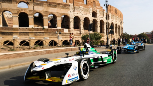 Rome ePrix: Entrance of the ABB FIA Formula E gladiators