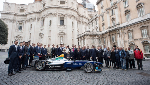 Delivery address: The Vatican – DHL delivers the ABB FIA Formula E car to His Holiness Pope Francis