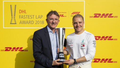 Valtteri Bottas wins the DHL Fastest Lap Award 2018