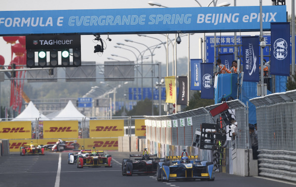 The inaugural Formula E race in Beijing