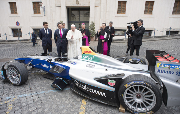 Formula E meets the Vatican