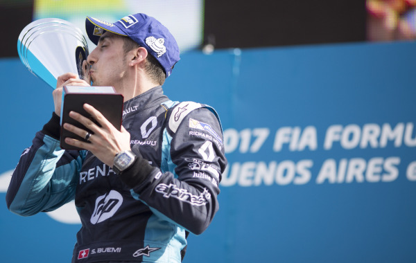 Sebastien Buemi becomes the first driver to win three races in a row