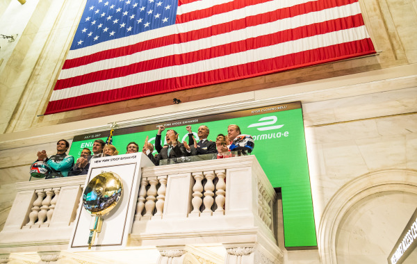 Formula E, DHL and Enel ring the closing bell at the New York Stock Exchange