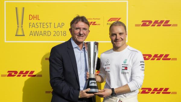 Valtteri Bottas wins DHL Fastest Lap Award