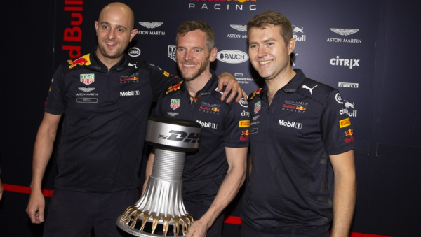 DHL Fastest Pit Stop Award presented to Red Bull Racing