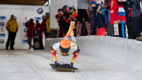 Bester deutscher Skeletoni beim Weltcup in La Plagne wurde Axel Jungk mit Platz fünf. Das Ergebnis war der starken Konkurrenz und einer schwierigen Bahn geschuldet. (Foto: Viesturs Lacis)