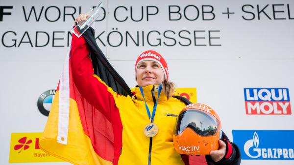 Lokalmatadorin Tina Hermann raste beim Weltcup am Königssee auf Platz eins – mit einem neuen Bahnrekord. (Foto: Viesturs Lacis)