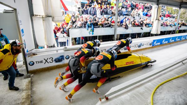 Auf die Plätze, fertig, los! Team Nico Walther startet – und holt am Ende WM-Bronze. (Foto: Viesturs Lacis)