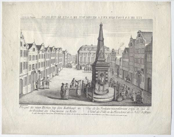 Der Marktplatz in Bonn, um 1770