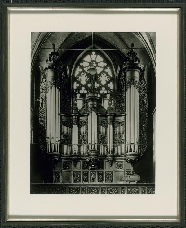 """Beethovens Orgel"" in der Kirche St. Remigius, Fotografie um 1905"