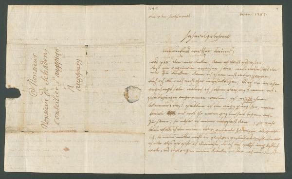 """Ludwig van Beethoven, Brief an Joseph von Schaden in Augsburg, Bonn, 15. September 1787  """"(…) sie war mir eine so gute liebenswürdige mutter, meine beste freundin (…)""""."""