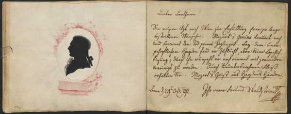 Ferdinand Ernst Graf von Waldstein (1762-1823) – Álbum de visitas de Beethoven