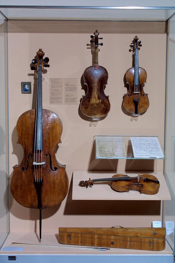 Instrumentos del cuarteto de cuerda de Beethoven