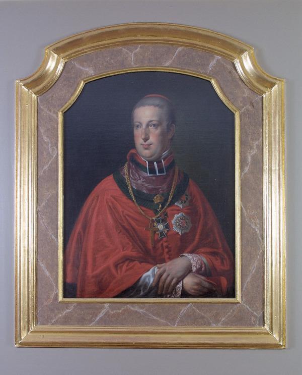 El archiduque Rodolfo (1788–1831), arzobispo de Olmütz, óleo anónimo, quizás de Johann Baptist von Lampi