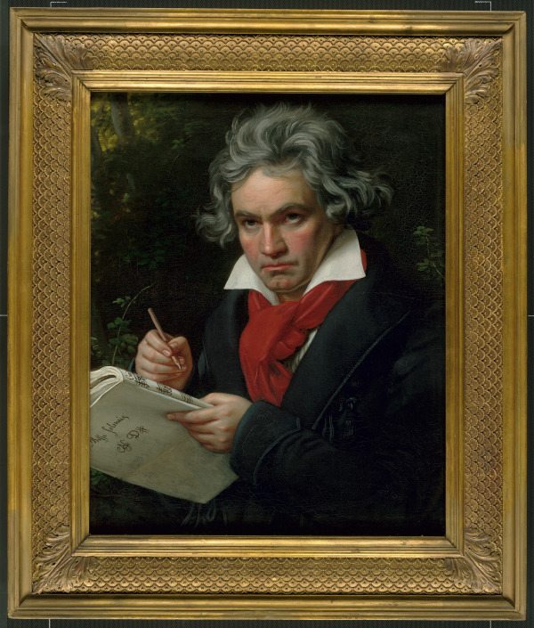 Joseph Karl Stieler, Beethoven with his Missa solemnis, 1820