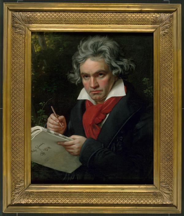 Joseph Karl Stieler, Beethoven con el manuscrito de la Misa Solemne, 1820