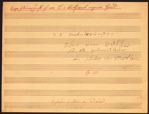 Title page of the Diabelli Variations (autograph)
