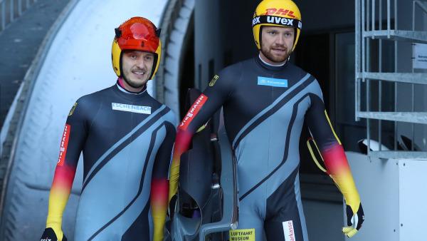 So entspannt sehen Sieger aus: Das Thüringer Duo Toni Eggert und Sascha Benecken sauste direkt auf Platz 1. (Foto: BSD/ Halank)