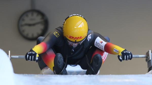 Konzentriert startete die Rennrodlerin Natalie Geisenberger – und sicherte sich wieder einen Platz auf dem Podest. (Foto: BSD/ Bittner)